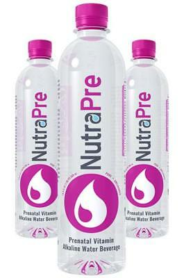 (NutraPre 6 Pack - Prenatal Vitamin Alkaline Water For Expecting and New Mothers)