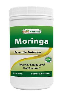 Best Naturals Moringa leaf Powder Great For Energy, Nutrition 1 LB -- exp 2021
