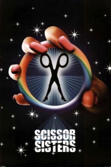 Scissor Sisters -Pink Fingernails Rainbow Logo(sealed New 24x36 Poster)
