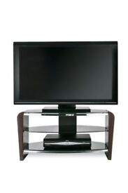 Alphason Francium 800 Black and Walnut TV Stand - Ex Display RRP £194.99