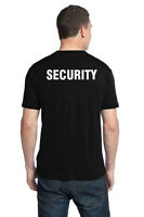 "Two black ""SECURITY"" T-Shirts, Size Medium, Brand New!"
