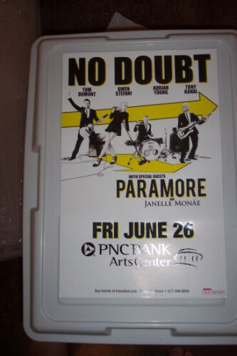 No Doubt Paramore Concert Poster - LAST ONE!