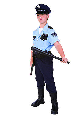 POLICE POLICEMAN COP CHILD BOY COSTUMES PATROL SECURITY GUARD KIDS OUTFIT 90265