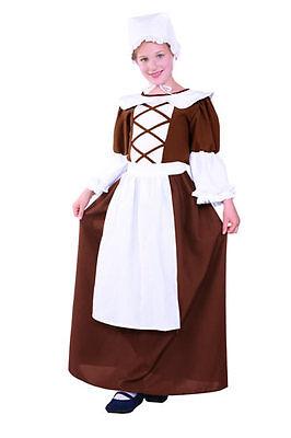 COLONIAL PEASANT TEEN COSTUME PILGRIM PIONEER PRAIRIE TEENAGE WOMENS ADULT SMALL