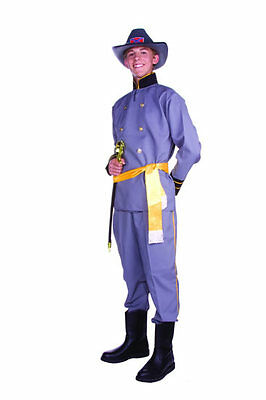 LEE TEEN COSTUME CIVIL WAR SOLDIER CAPTAIN ADULT MEN TEENAGE (General Lee Kostüm)