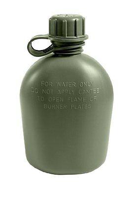 USGI 1 Quart Canteen OD Green 3 Piece Plastic BPA Free Made in USA NEW