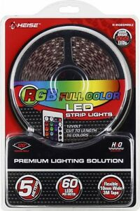 Heise - 16.4' LED Light Strip with Remote Multi Model H-RGB5MRK2