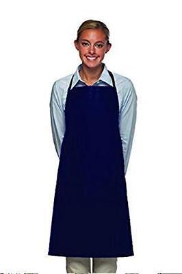Cobalt Blue Vinyl Bib Apron No Pockets Butcher Craft Restaurant Dishwasher Usa