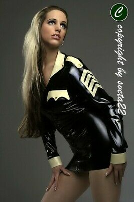 LATEX Police-Uniform - einfach - Einfache Kostüm Für Damen