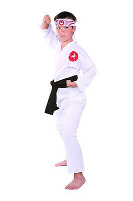 KARATE CHILD KID JAPANESE NINJA MARTIAL ARTS KUNG FU BOYS GIRLS COSTUME WHITE