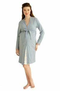 Small 2pc Nursing Nighty & Robe Blue NEW Belabumbum Edmonton Edmonton Area image 2