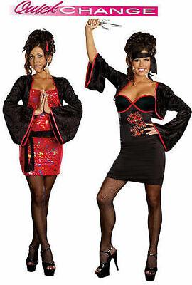 Dreamgirl USA 7516 Womens Geisha Beauty to Ninja Cutie Costume  quick change - Quick Ninja Costume