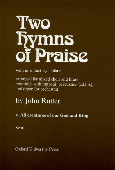 All Creatures of our God and King, Paperback; Rutter, John. - 9780193673595