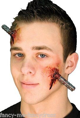 Halloween Bloody Industrial Bolt Special Effects Make Up Fancy Dress Costume Kit