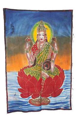 Batik Hanging Lakshmi India 115x 74cm Crafts India Peterandclo 8814
