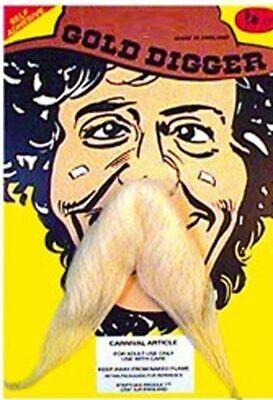 Wilder Westen Goldgräber Prospector Miner Blond Schnurrbart Kostüm - Blonde Schnurrbart Kostüm