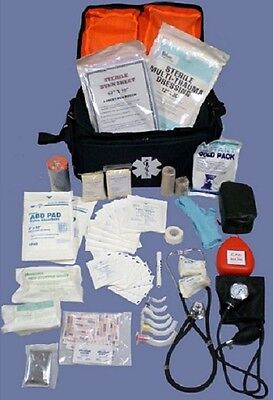New Medsource Fully Stocked Emt Paramedic Medical Trauma Bag Pack