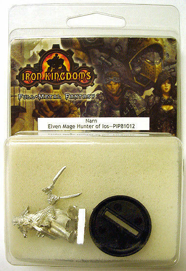 2004 Iron Kingdoms NARN Elven Mage Hunter of Ios Metal Miniature MIP SEALED