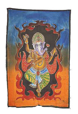 Batik Lord Ganesh Elephant 115x 74cm Crafts India Peterandclo 8791