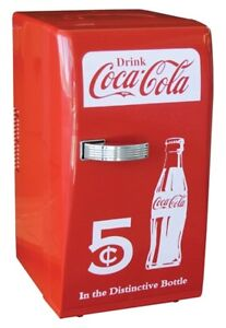Coke Retro Fridge 18 Can.    Used but in Great Condition