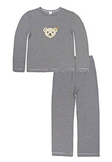 Steiff Sleepwear Schlafanzug Pyjama 2 tlg. geringelt Gr. 104 116 128