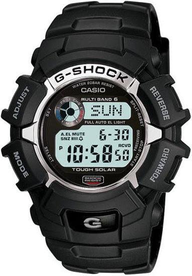 Casio Men's G-Shock Solar Atomic Digital Sports Watch Black GW2310-1