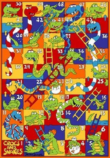 8 X 11 CROCKS & SNAKES NUMBER KIDS EDUCATIONAL PLAYROOM CLASSROOM AREA RUG