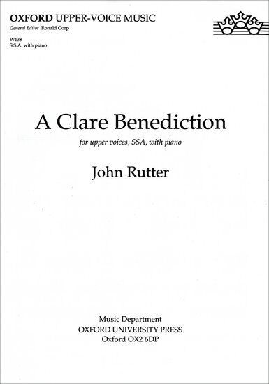 A Clare Benediction SSA & keyboard