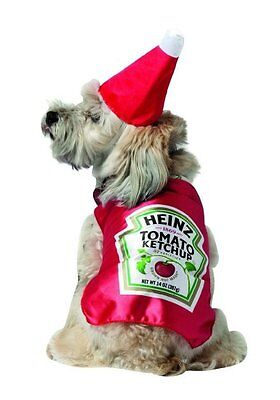 Rasta Imposta - Heinz Ketchup Pet Costume Red Pet Costume Halloween Dog X- Small