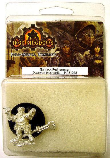 2004 Iron Kingdoms GAMACK REDHAMMER Mechanik Metal Miniature MINT/SEALED OOP