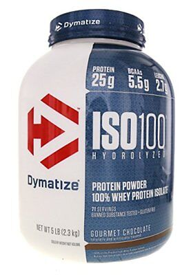 Dymatize ISO-100 Hydrolyzed 100% Whey Protein Isolate 5 Lb All Flavors Iso (100% Whey Isolate Protein)