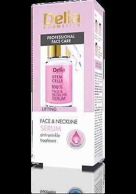 DELIA  STEM CELLS 100%  Face & Neckline Serum Anti-Wrinkle Treatment 10 ml