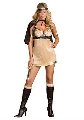 Dreamgirl Women's Viking Vixen Sexy Warrior Goddess Adult Costume Medium 8-10 - Viking Vixen