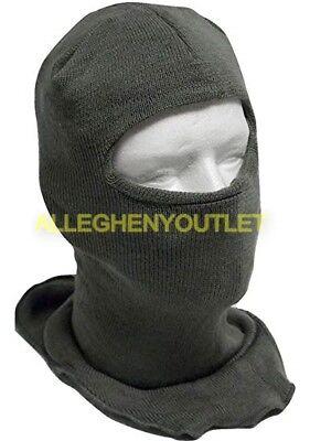 f3aab75f990 USGI Military ECW Wool Blend Balaclava Hood Ski Face Mask Foliage Green NEW