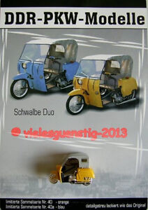 DDR-PKW Modell  Schwalbe Krause Duo orange Nr. 40