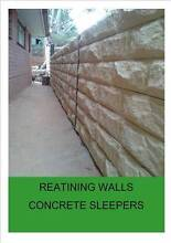 CONCRETE SLEEPER RETAINING WALLS STARTING FROM $24.90 Oaklands Park Marion Area Preview