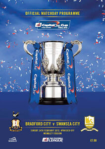 ** BRADFORD CITY v SWANSEA CITY CAPITAL ONE CUP FINAL 2013 MINT PROGRAMME **