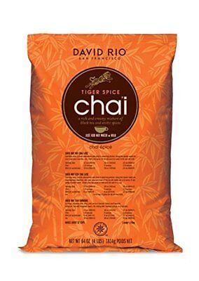 David Rio Tiger Spice Chai Tea, Bulk,  4lb. Bag, New.