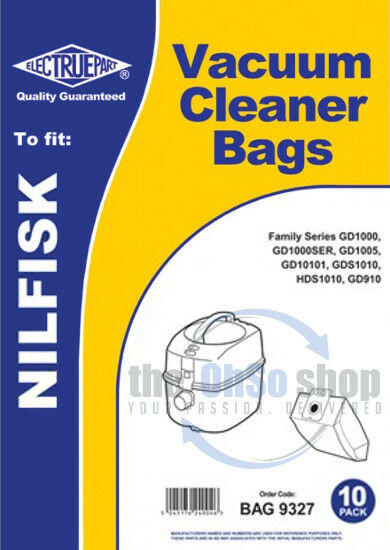 10 x NILFISK Vacuum Cleaner Dust Bags To Fit - Family Series