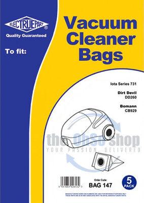 5 x Goblin 72 Type - Vacuum Cleaner Dust Bags to Fit Iota Series 731 - 73145