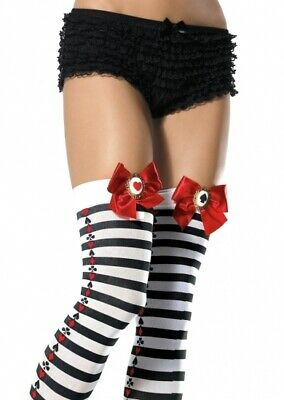 Stripe Thigh Highs with Poker Suit Striped Poker Suit