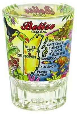 BELIZE DOUBLE SHOT GLASS SHOTGLASS - Double Shot Glasses
