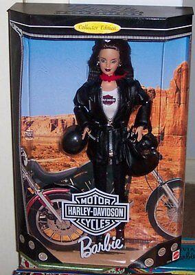 MNRFB COLLECTOR QUALITY Mattel BRUNETTE HARLEY DAVIDSON BARBIE #3 1999