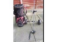 Ram golf bag and dunlop trolly