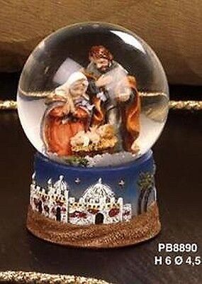 Schneekugel Heilige Familie Jesus,6 cm,Glitzerkugel,Snowglobe Religion