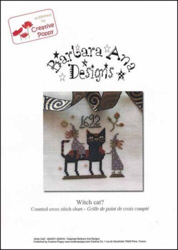 Barbara Ana Designs Counted X-stitch Chart - Witch Cat?
