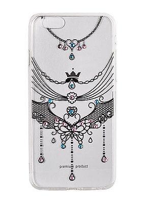 ^ ART Vennus Cover Muster Schmuck schwarz Hülle Diamanten Apple iPhone 7 Plus (Iphone Schmuck)