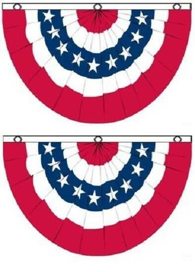 3x5 USA American America U.S. Bunting Fan Flag Banner Gromm
