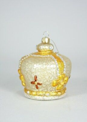 Large Glass CROWN Christmas Ornament by Cody Foster ()