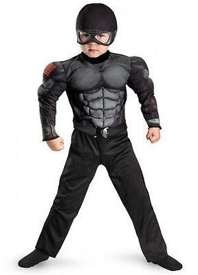 Junge Kleinkind Kinder Gi Joe Retaliation Deluxe Muskel Brust Snake Eyes (Gi Joe Kinder Kostüm)